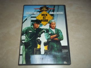 Men at Work DVD 2002 RARE OOP Charlie Sheen Emilio Estevez
