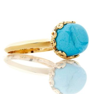 Heritage Gems Sleeping Beauty Turquoise Nugget Vermeil Ring