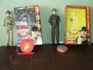 Lee Ermey Xtra Salty and Gunnery Sgt 12 inch Figures