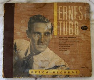 Decca Records Ernest Tubb Souvenir Album Holder with No Albums