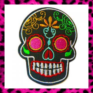 Iron on Denim Biker Rock Rockabilly Emo Goth Punk Tattoo Dotd