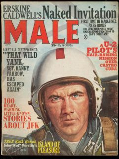 Male Magazine Oct 1964 Island of Pleasure Castro JFK U2