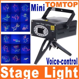 Mini Moving Projector Voice Control Laser Stage Lighting Club Disco