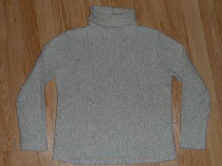 Eileen Fisher Gray Beige Ivory Wool Blend Turtleneck Sweater PP