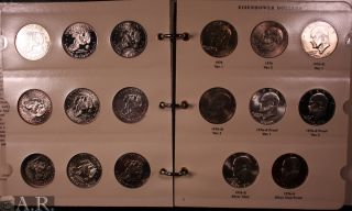 1971 1978 Eisenhower Dollar 30 Coin Set BU Proof Silver