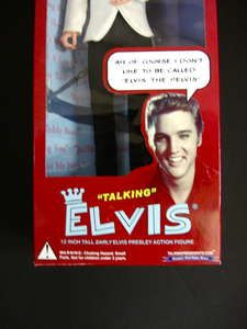 ELVIS PRESLEY 12 INCH LIMITED EDITION TALKING DOLL White/Black OUTFIT
