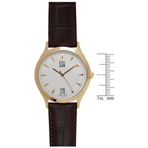 Esq by Movado Mens 07300771 Folio Gold Plated Stainless Steel Watch