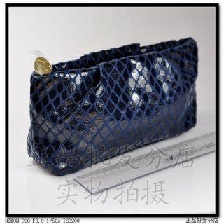 Estee Lauder Blue Cosmetic Makeup Bag Pouch Clutch New