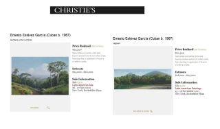 ERNESTO ESTEVEZ GARCIA AUCTION RESULTS PRICES CUBAN ART LATIN AMERICAN