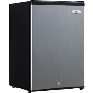 Stainless Steel Upright Freezer w Locking Reversible Door Compact 0°F