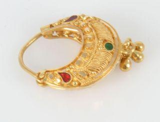 Eng KDM 18K Yellow Gold Gemstone Earrings 4 8 Grams