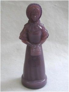 DEGENHART ELDENA Light Purple Lavender Girl Glass Figurine 5 1/4