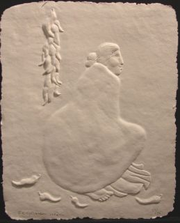 Gorman Aunt Etta SN Paper Cast Embossing Art Signed Limited Ed