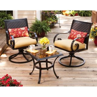 Home Garden Furniture Englewood Heights 3 Piece Outdoor Patio Bistro