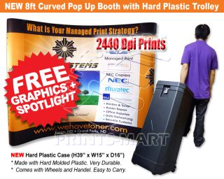 Pop Up Banner Stand Kiosk Exhibition Stand Display Free Prints
