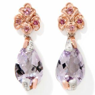 pear shaped pink amethyst drop earrings rating 7 $ 59 95 or 2 flexpays