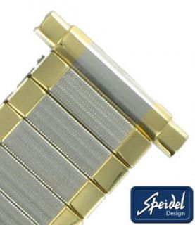 16 21mm Mens Two Tone Gold GP Expansion Watch Band Reg Speidel