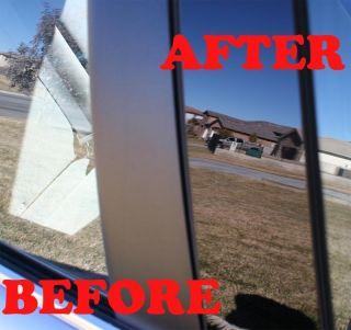 98 08 Ford Expedition Black B Pillar Door Covers Post Window Trim