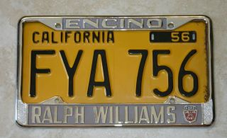 Ralph Williams Ford Encino CA License Plate Frame 1956 Current