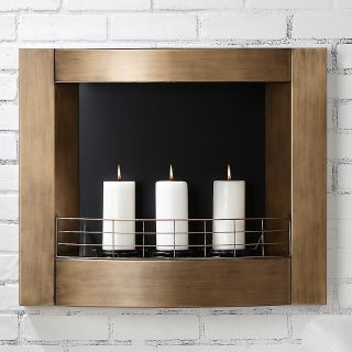 Colin Cowie Wall Mounted Indoor/Outdoor Metal Fireplace at