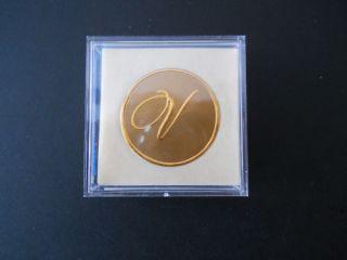 Crane 10 Gold Foil Initial Monogram Envelope Seals V