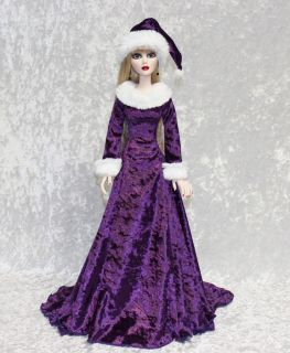 Purple Christmas Gown for Tonner Evangeline Ghastly Wilde Imagination