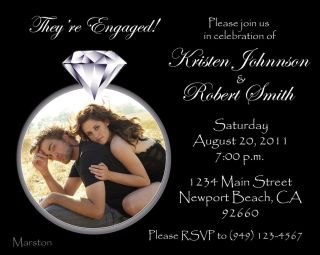 Personalized Engagement Party Invitations Print Your Own Your Choice