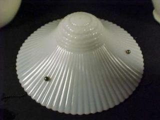 Vintage Macbeth Evans Petalware Monax 11 1 2 Glass Ceiling Light