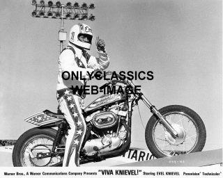 1977 Viva Evel Knievel Harley Davidson XR750 Motorcycle Daredevil Jump