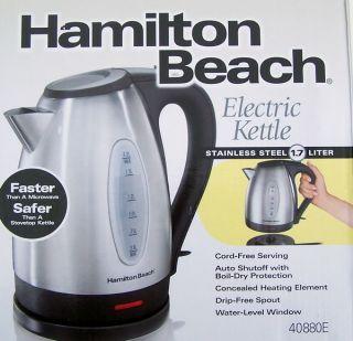 New Hamilton Beach Stainless Electric Tea Kettle Teapot