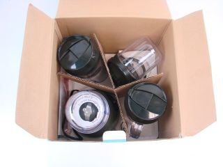 Blender Express Plus Blender Set BPE3BRAUS w/ 2 Travel Mugs +Box
