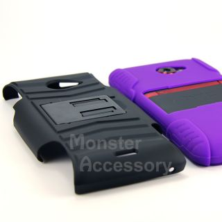 Purple Rhino + Holster Double Layer Hard Case Cover for HTC Evo 4G LTE