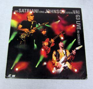 You are bidding on Joe Satriani Eric Johnson Steve Vai in Concert