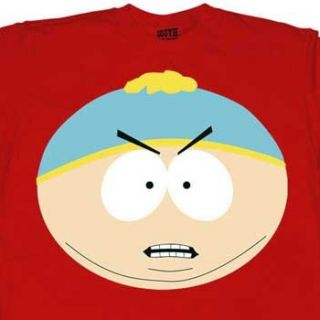 this licensed south park t shirt has eric cartman s face on it adult