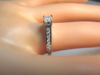 .75CT PRINCESS F COLOR DIAMOND 14K WHITE GOLD ENGAGEMENT RING