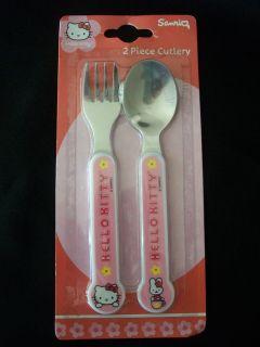 Sanrio Hello Kitty 2 Piece Round End Cutlery Set, Dishwasher Safe NEW