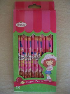 Strawberry Shortcake Pack of 12 Long Lasting Bright Colored Pencils
