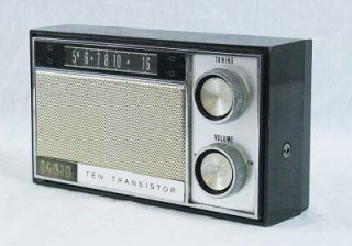 vintage elgin 10 transistor am radio