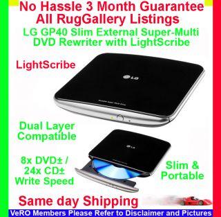 Portable External DVD Rewriter Lightscribe Dual Layer 8x DVD±R