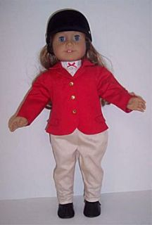 DOLL CLOTHES FITS AMERICAN GIRL HORSE RIDING SET SHORT, PANTS, JACKET