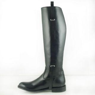 DG MEN BUCKLE DRESS TALL HORSE RIDING BOOTS BLACK Slim Sizes 7 13