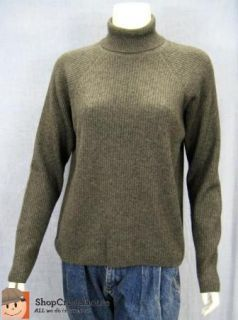 Womens Erdos Gray Turtleneck Long Sleeve Cashmere Sweater Sz XL Soft