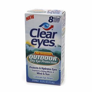 Lubricant Liquid Eye Drops Clear Eyes Outdoor Dry Protection New 3 Pak