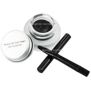 Pro BF Gel Creamy Eyeliner Black with Eye Liner Brush Makeup 516