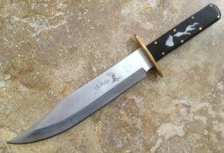 14.5 INCH CLOSED ELK RIDGE HUNTING/BOWIE KNIFE WITH FULL TANG RAZOR