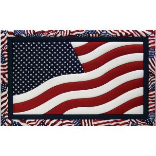 108 7281 american flag quilt magic no sew wall hanging kit rating be