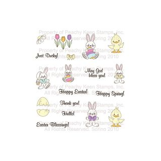 111 5014 peachy keen clear stamp assortment springtime mini s rating 1