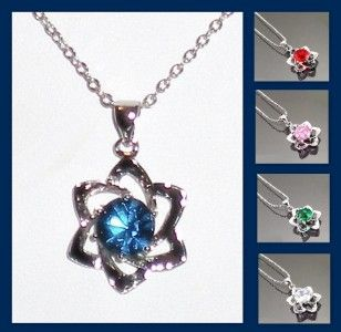 Jewish Star of David Pendant with CZ Center Pendant Necklace Chain U