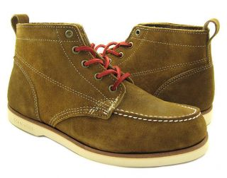 New Sebago Mens Fairhaven Chu Tan Boots Shoes US Sizes