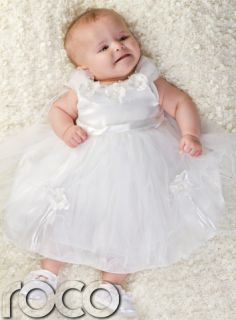 Baby Girls White Flower Dress Wedding Babies Bridesmaid Flower Girl